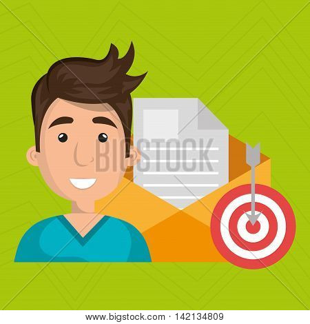 man message document icon vector illustration graphic