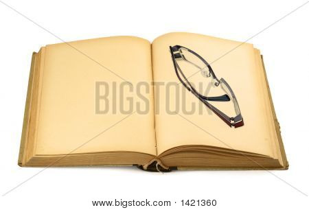 Old Book With Glasses