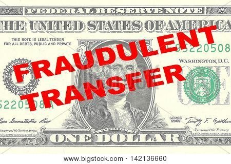Fraudulent Transfer Concept
