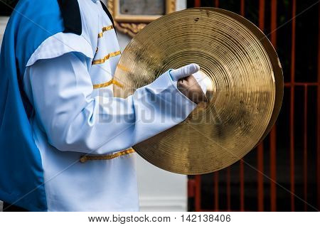 Cymbals in hand- School Marching Band in Thailand