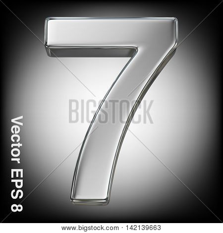 Vector 3d metal number collection - 7. Eps 8 using mesh.