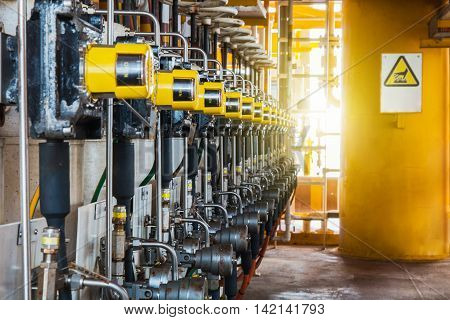 Control valve in oil and gas process The control valve used to controlled pressure in the system as Controller command Oil and gas industry use to controlled the system.