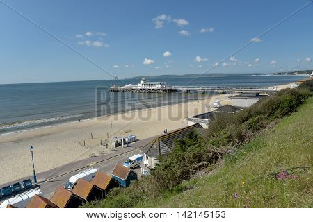Bournemouth Pier and promenade in Dorset, Great Britain