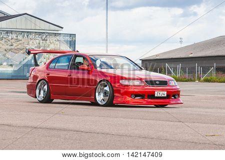 Red Custom Toyota Sport Car