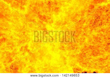 Fiery red background computer simulation of a bright flame