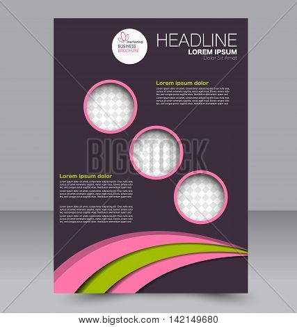 Brochure Design. Flyer Template. Editable A4 Poster For Business, Education, Presentation, Website,