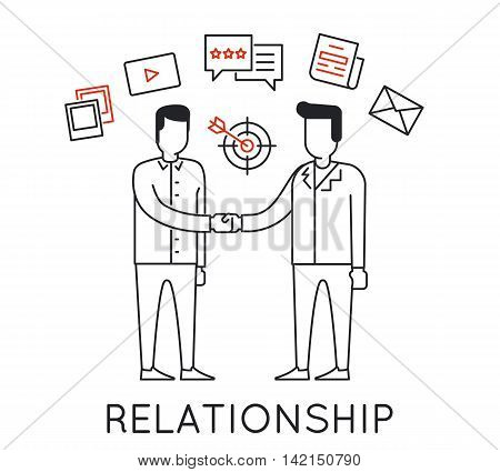 Linear Concept of Business Interaction Relationship Discussion and Negotiation For the Continuation of Successful Business
