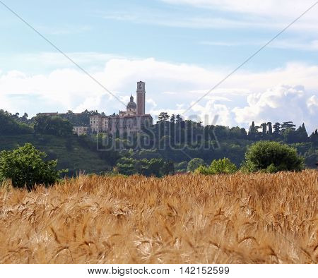Ancient Sanctuary Dedicated To St Mary And The Field With Wheat