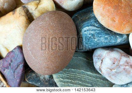 Detail of tthe pebble stone - shallow depth of field