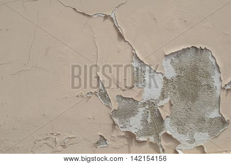 chipped paint on an plaster wall, landscape style, grunge concrete surface, great background or texture