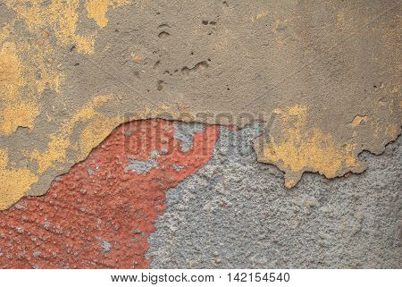 concrete wall with old plaster chipped, abstract concrete, landscape style, grunge concrete surface, great background or texture