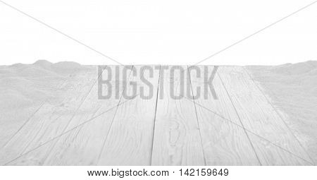 Wood floor texture on white background