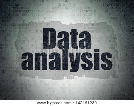 Data concept: Painted black text Data Analysis on Digital Data Paper background with   Hexadecimal Code