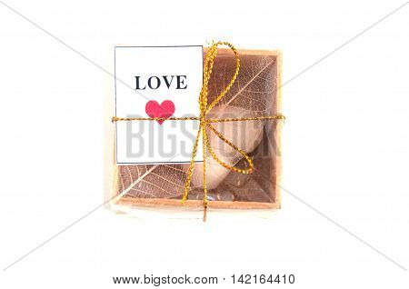 Box for guest attending the wedding (wedding favor)