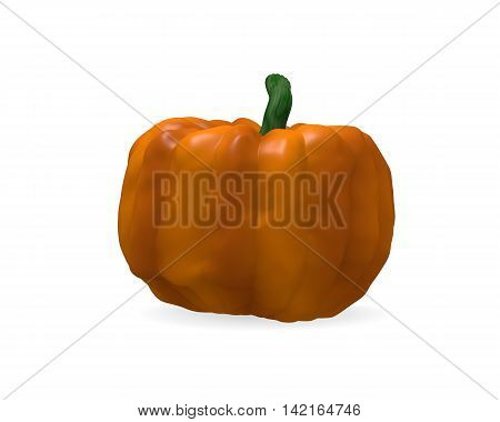 Halloween pumpkin on a white background 3d rendering