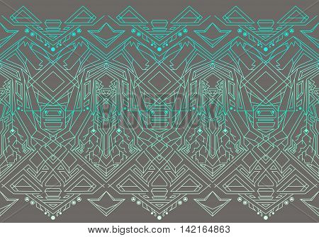 Geometric seamless pattern transformer. Line Art EPS 8, vector