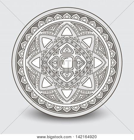 Round pattern, decorative element vector illustration EPS 10
