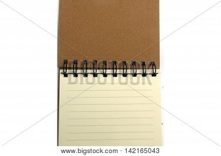 blank realistic spiral notepad notebook, open notebook