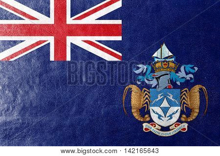 Flag Of Tristan Da Cunha (part Of Saint Helena, Ascension And Tristan Da Cunha), Painted On Leather