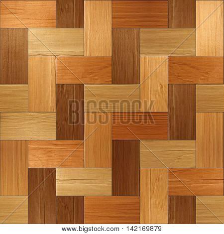 Wooden rectangular parquet stacked for seamless background. veneer alder