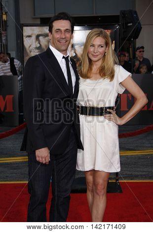 Jon Hamm and Jennifer Westfeldt at the World premiere of