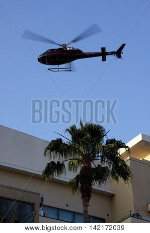 A-team helicopter at the World premiere of