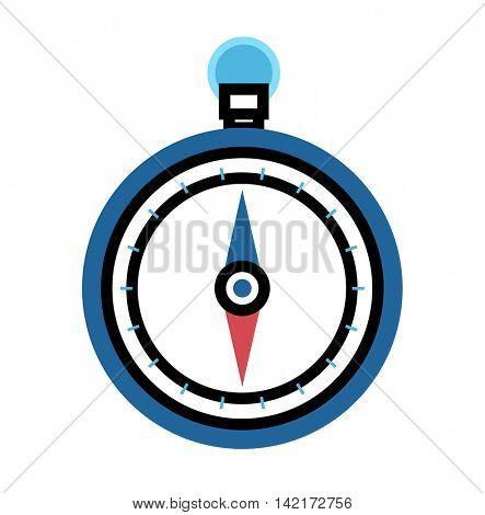 Travel compass vector icon