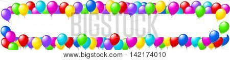 Balloons party banner eps10