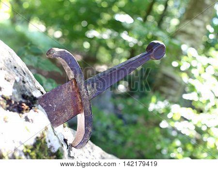 Famous Excalibur Sword Of King Arthur