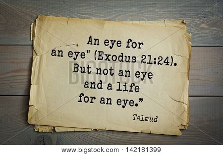 TOP 70 Talmud quote.An eye for an eye