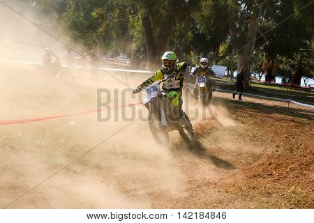 4Th Race Motocross Scrabble Southern Greece