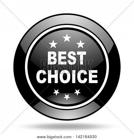 best choice black glossy icon