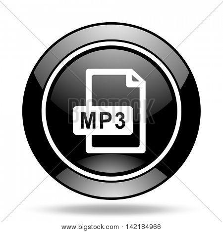 mp3 file black glossy icon