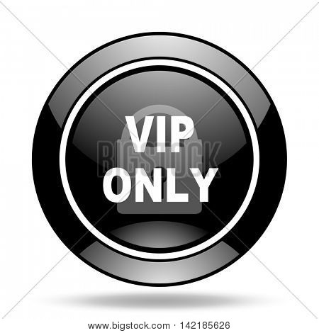 vip only black glossy icon
