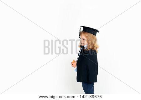 Little Boy In Academic Cap