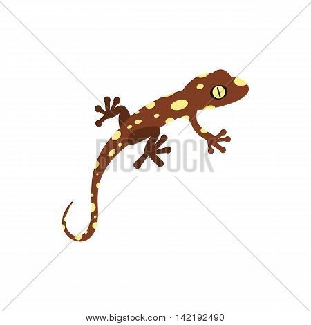 Salamander icon in flat style on a white background