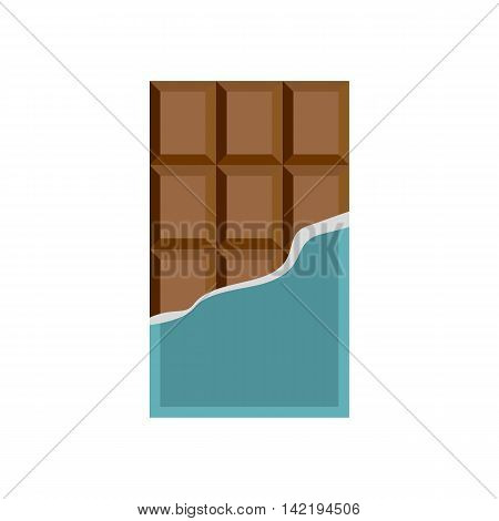 Chocolate icon in flat style on a white background