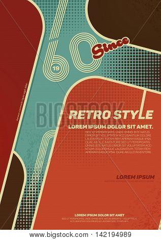 Grunge retro poster. Vintage typography. Vector illustration.