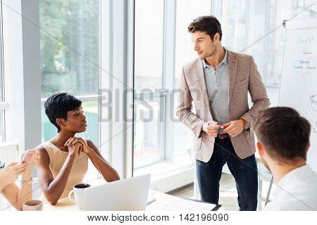 Businesspeople having a meeting at the office