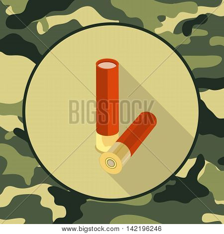 flat icon ammoitem in camouflage vector format eps10