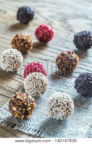 Colorful Belgian Truffles