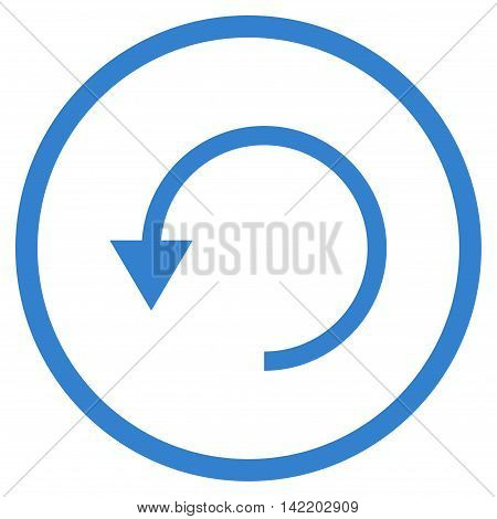 Rotate Ccw vector icon. Style is flat rounded iconic symbol, rotate ccw icon is drawn with cobalt color on a white background.
