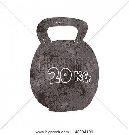 freehand retro cartoon 20kg kettle bell