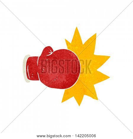 freehand retro cartoon boxing glove