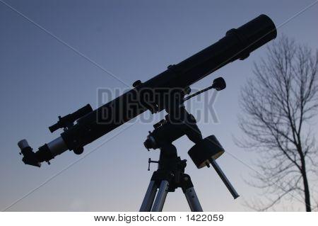 Telescope At Dusk