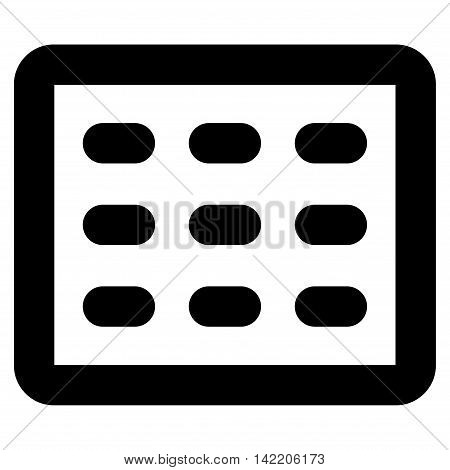 Table Grid vector icon. Style is outline flat icon symbol, black color, white background.