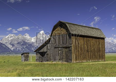 Mormon Style Barn inside Grand Teton Nation Park