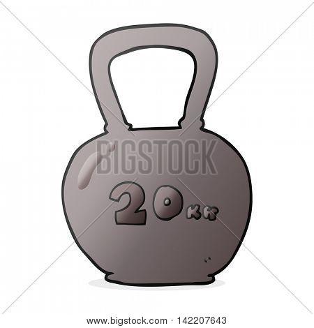freehand drawn cartoon 20kg kettle bell
