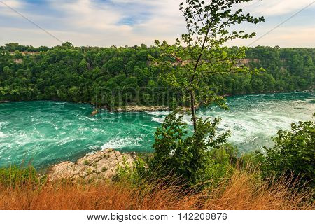 The Mighty Niagara Falls seen from the United States of America