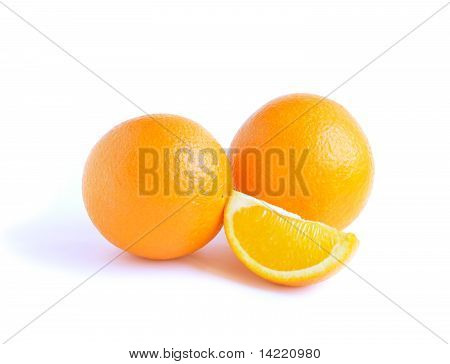 Two Orange Fruit And Lobule